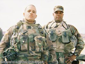 Gopaul said Jimenez, right, often taught other soldiers Arabic to help them communicate with locals.