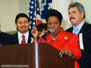 Texas Rep. Sheila Jackson Lee demanded to know why a CNN reporter's name was put on the no-fly list.