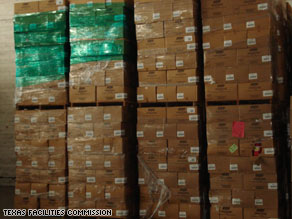These items, stored by FEMA, were meant for Katrina victims but were not distributed.