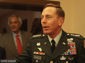 Gen. David Petraeus is being promoted to head of U.S. Central Command, which operates in the Middle East.