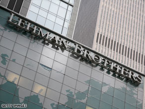 The value of Lehman Brothers shares declined 94 percent in the past year.