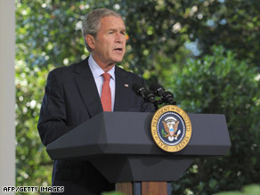 President Bush said his administration is ready to act to head off market disruptions.