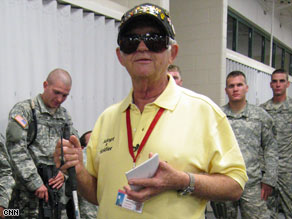 Walt Peters is often among the last people soldiers see as they deploy and the first they see upon their return.