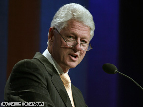 Former President Bill Clinton says that everyone can do something to improve the lives of others.