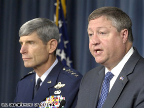 Air Force Secretary Michael Donley and Chief of Staff Gen. Norton Schwartz explain the Tawain nuke probe.