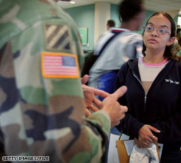 The Army Recruiting Command is examining recruiters all over the country for job-related and combat-related stress.