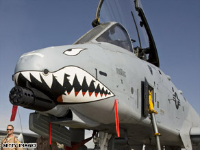 Aircraft like this A-10 Warthog provide close support to ground troops in Iraq and Afghanistan.