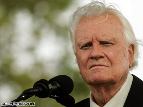 Evangelist Billy Graham, pictured in 2005, has suffered a number of physical ailments.