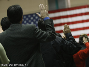 More than 1 million people took the Oath of Allegiance in 2008, according to the government.