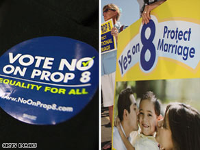 The passage of California's Proposition 8, which bans same-sex marriages, has led to a number of protests.