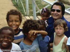Rev. Jim Jones with children