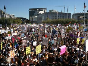 Supporters of same-sex marriage rally in San Francisco, California, on Saturday.