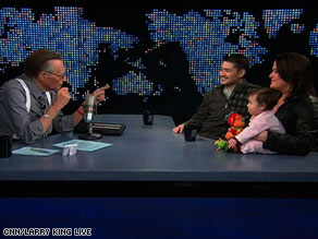 Larry King interviews the Beatie family -- Thomas, Nancy and their daughter, Susan.