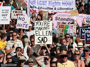 California's voter-approved measure banning same-sex marriage has sparked protests throughout the state.