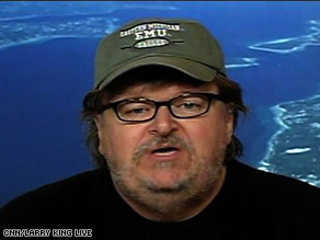 Filmmaker Michael Moore says the collapse of General Motors could mean the loss of millions of jobs.