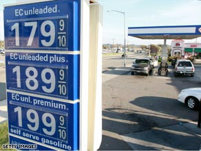 This station in Rio Vista, California, had gas prices below $2 on November 19.