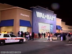 A Wal-Mart employee at this Long Island location was killed in a rush early Friday morning.