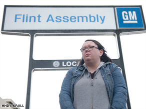 If General Motors declares bankruptcy, Amanda Emery might have to work to support her family.