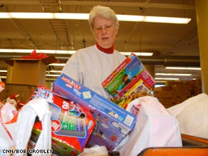 """We always run out of toys before we run out of children,""  says Toys for Tots official Bill Grein."