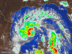 Tropical Storm Dolly was headed toward Texas and Mexico at 8:45 p.m. ET on Monday.