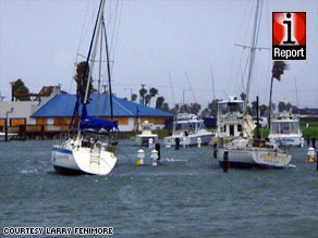 Captain Murphy's Fishing Charters boats sit moored Wednesday at South Padre Island, Texas.