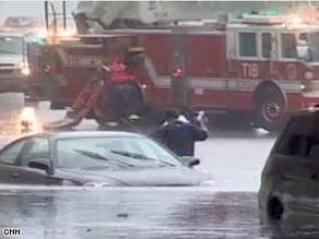 Chicago received more than 6 inches of rain Saturday, breaking a 1987 record.