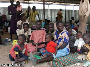 Displaced Sudanese families