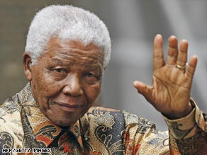 Mandela became South Africa's first black president in 1984.