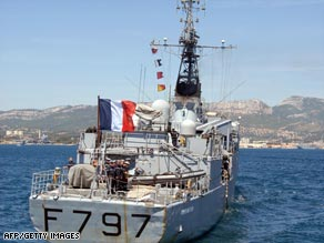 The French Navy has been patrolling the waters off Somalia's coastline in recent months.