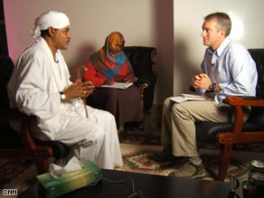 CNN's Nic Robertson conducts an interview in Sudan.