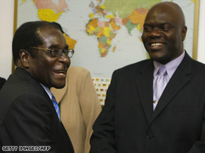 Zimbabwe President Robert Mugabe meets this week with Arthur Mutambara, an opposition leader.