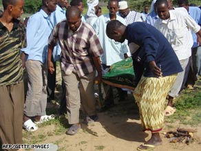Somalis prepare Monday to bury murdered Osman Ali Ahmed, the head of the U.N. Development Program.