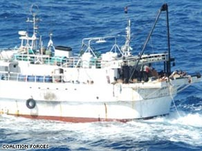 An image of the Burum Ocean -- a suspected pirate mother  ship in the Gulf of Aden.