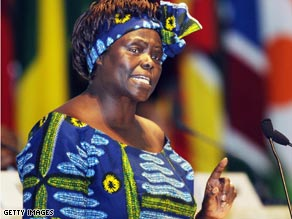 Wangari Maathai, 2004 Nobel Prize winner and founder of the Green Belt Movement