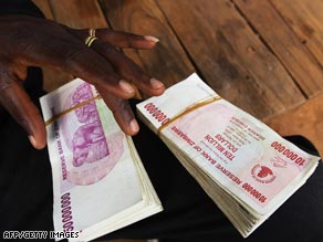 Zimbabwe's currency is trading around Z$350 -- $35 trillion in the old value -- against U.S. dollar.