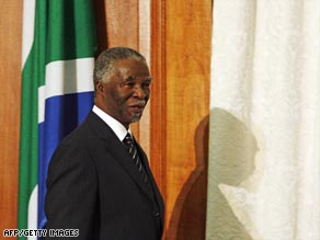 Mbeki has been South African president since 1999.