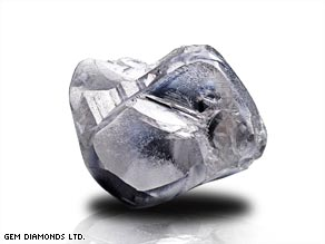 The diamond, which was taken from the Letseng Mine, is the 20th largest rough diamond ever found.