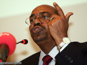 The ICC has already charged Sudan President Omar al-Bashir with war crimes in Darfur.