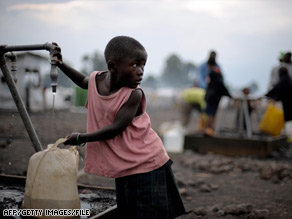 The U.N. has expressed concern for the safety of thousands of people living in camps in Kibati.
