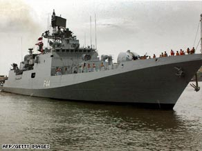 Indian navy frigate INS Tabar