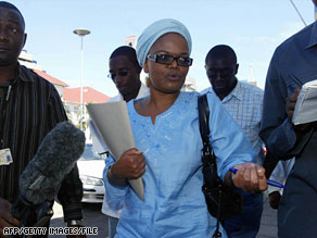 Beatrice Mtetwa, seen outside Zimbabwe's High Court in April, says police have been ordered to use media ads.