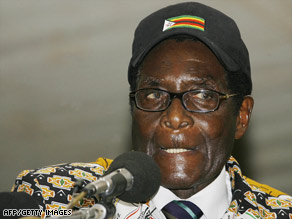 Zimbabwe President Robert Mugabe, in a speech to supporters Saturday, refused calls to step down.