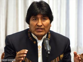 Bolivian President Evo Morales faces protests in the eastern part of his country.