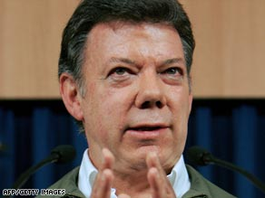 Defense Minister Juan Manuel Santos has expressed doubts about a military commander's version of events.