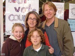 The Pearson family are putting their faith in the John McCain - Sarah Palin ticket.