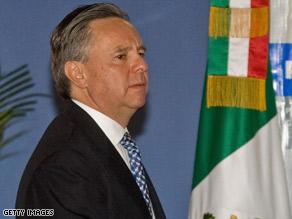 Attorney General Eduardo Medina Mora said organized-crime killings have climbed in Mexico in 2008.