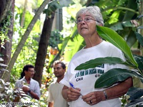 U.S. missionary sister Dorothy Stang as seen in 2004 working in the Amazon forest in Para, Brazil.