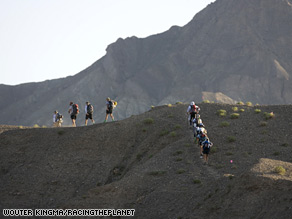 The Gobi March is a six-day stage race across the Kizilisu Kyrgyz Autonomous Prefecture of China.