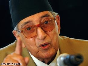 Prime Minister of Nepal Girija Prasad Koirala