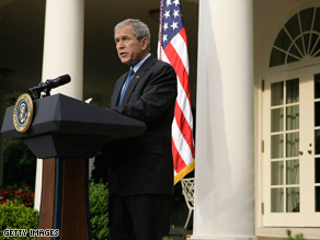 President Bush has faced criticism for removing North Korea from a list of state sponsors of terrorism.